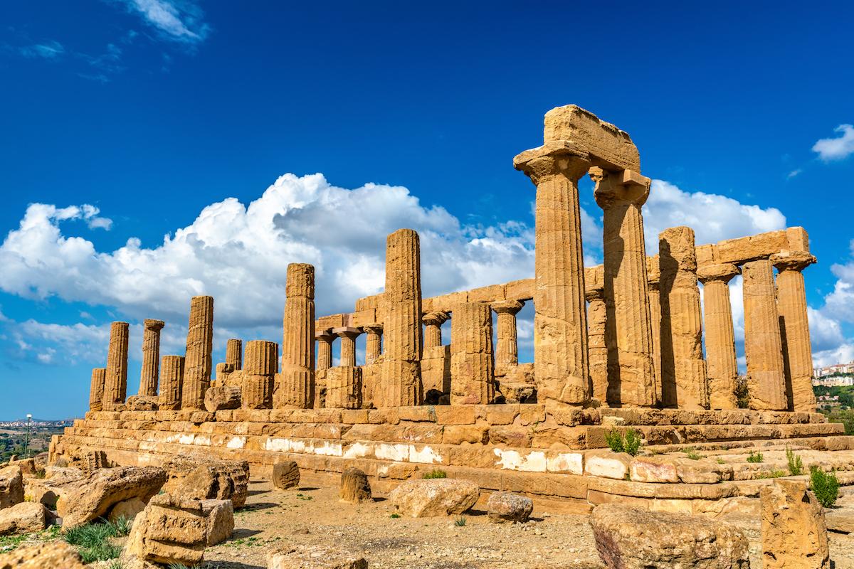El templo de Juno, en el valle de los templos de Agrigento (iStock).