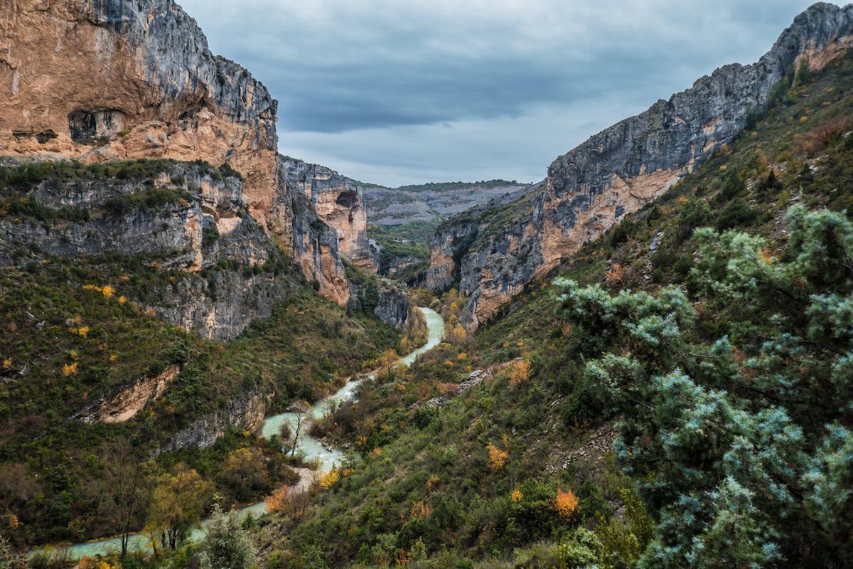 El río Vero a su paso por la Sierra de Guara ha generado este espectáculo natural (iStock).