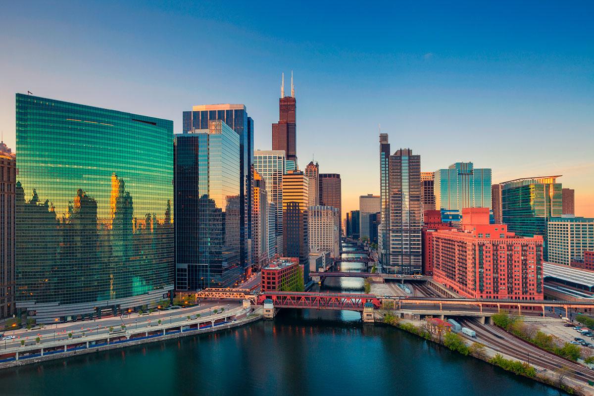 Los maravillosos colores de la ciudad de Chicago (iStock)