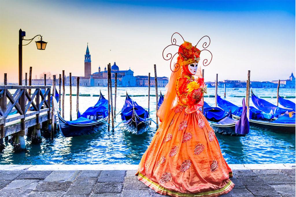 El concurso de disfraces enmascarado del carnaval de Venecia se celebrará el 23 de febrero (iStock)