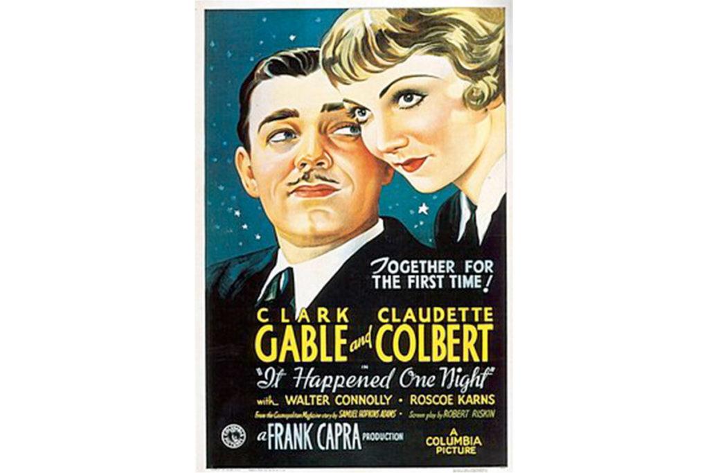 Sucedió una noche obtuvo cinco Oscars (Cartel oficial de la película)