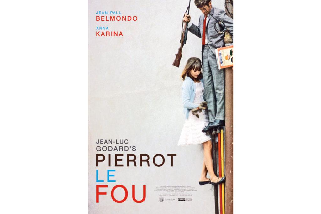 Pierrot el Loco está dirigida por Jean-Luc Godard (Cartel oficial de la película)