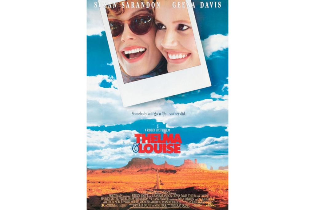 Thelma y Louise está protagonizada por Susan Sarandon y Geena Davis (Cartel oficial de la película)