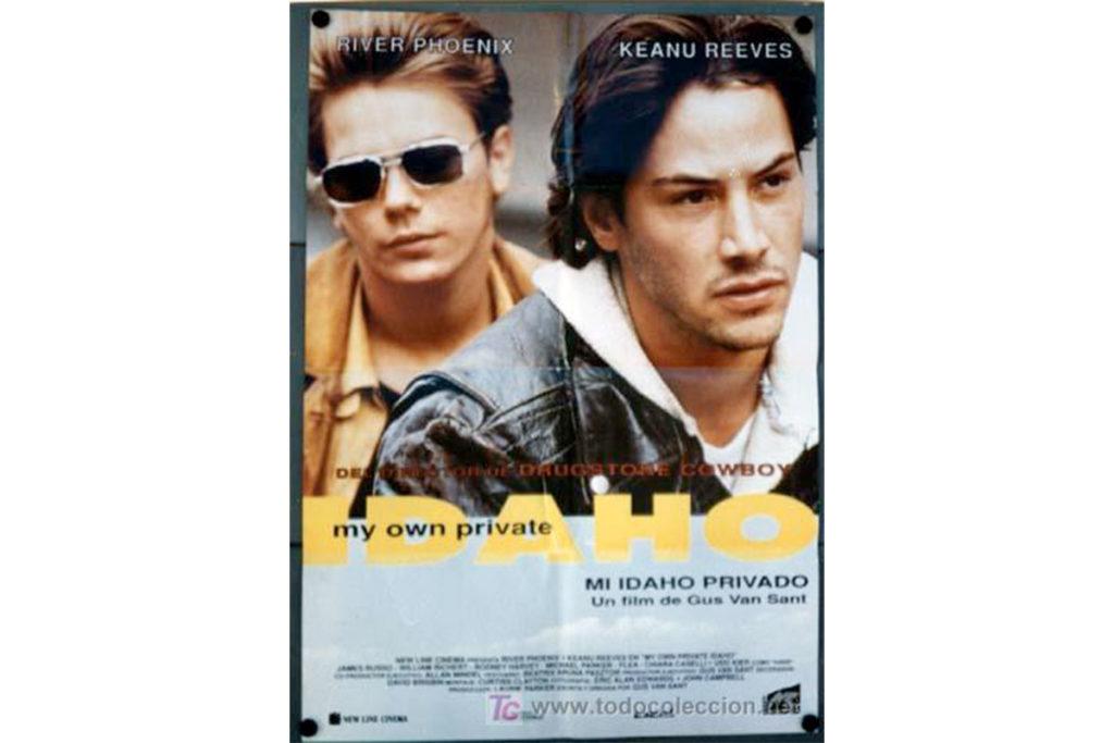 Mi Idaho privado también se estrenó en 1991 (Cartel oficial de la película)