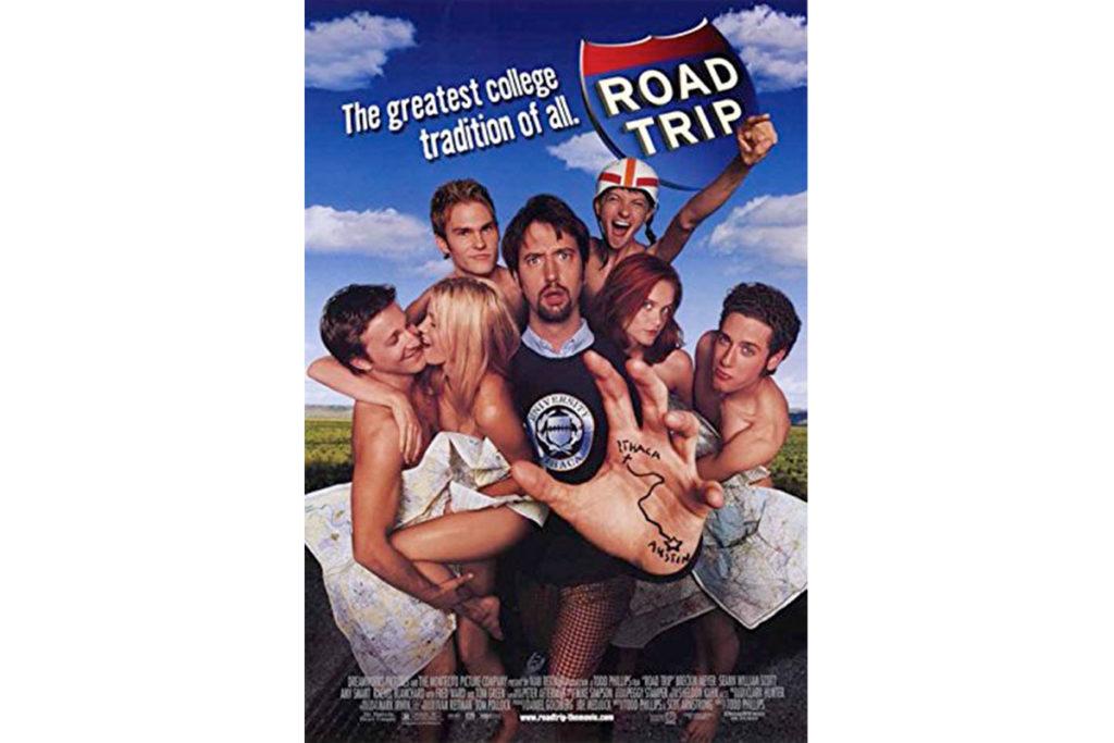 En 2000 se estrenó Road trip (Cartel oficial de la película)