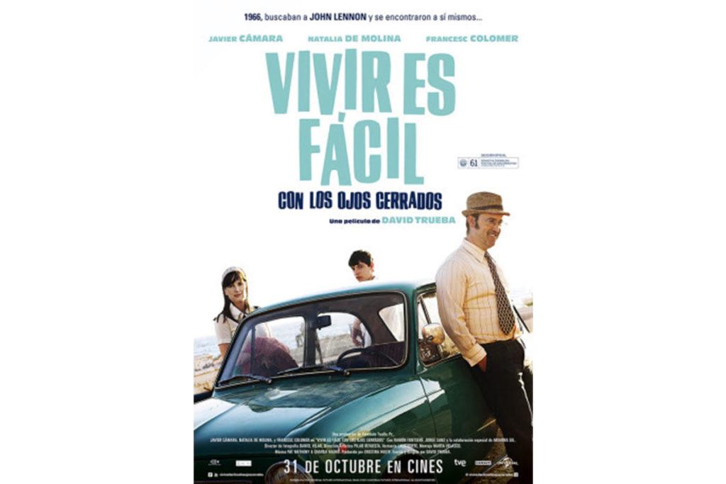 Javier Cámara es un profesor de inglés, fan de Los Beatles, en esta película de David Trueba (Cartel oficial de la película)