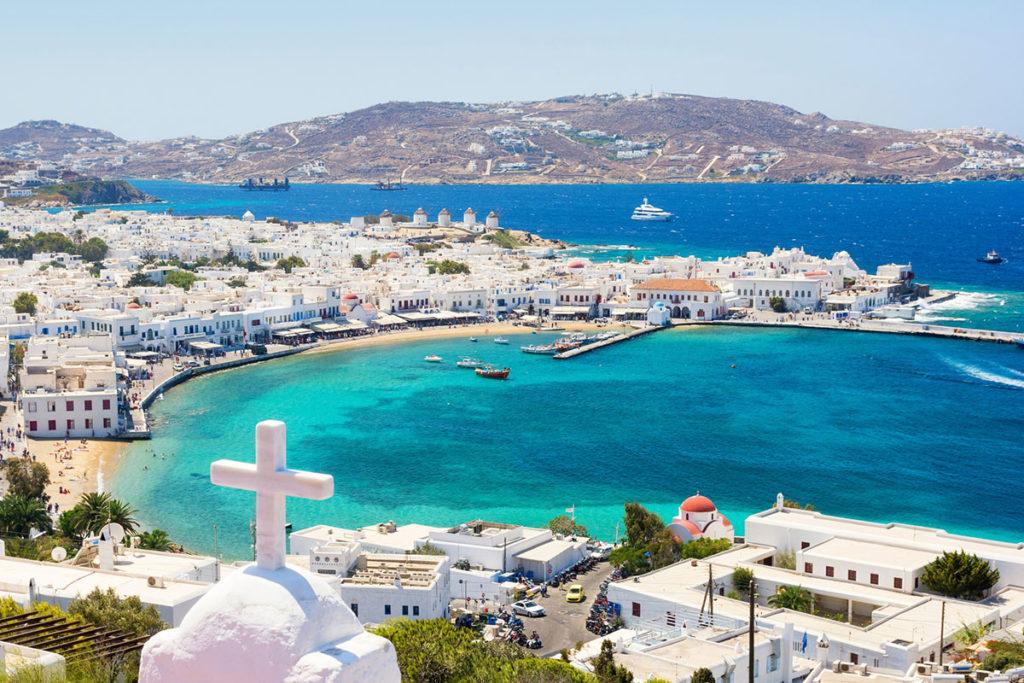 Mykonos está en el centro del archipiélago de las Cícladas (iStock)