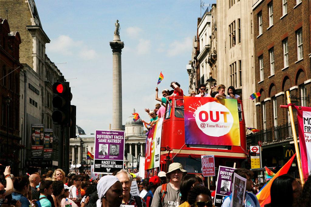 La marcha más importante de Pride London sale de Baker Street y termina en Trafalgar Square (iStock)