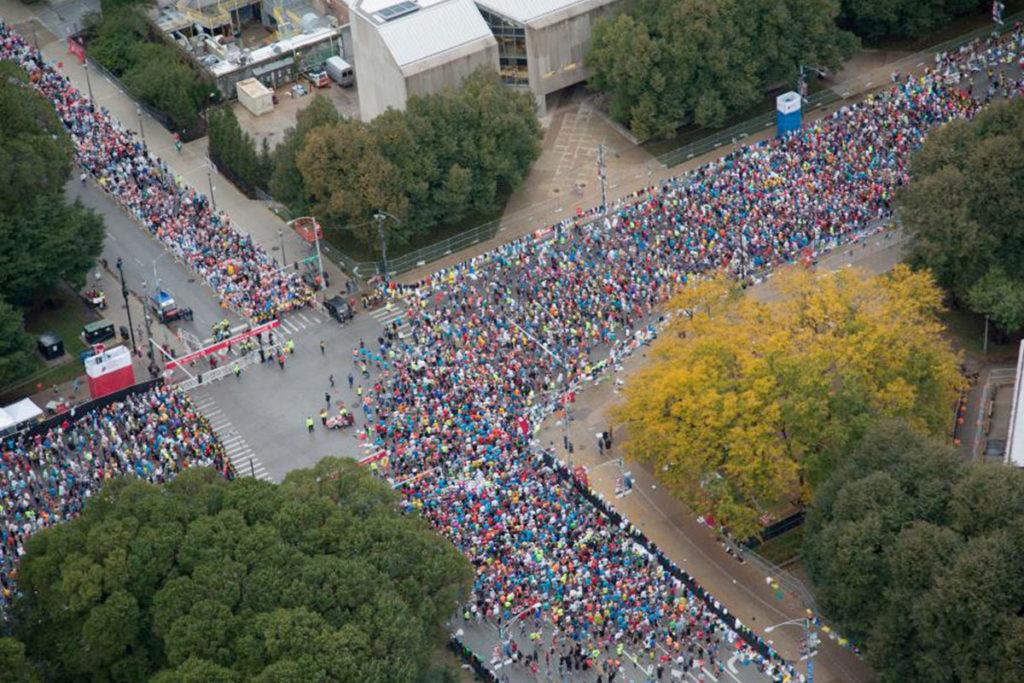 El Maratón de Chicago comienza y termina en Gran Park (chicagomarathon.com)