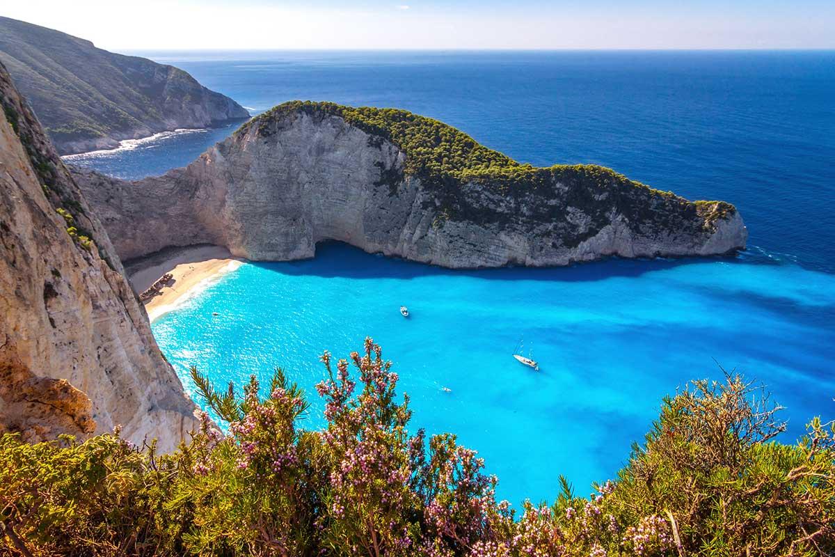 playas de la costa griega