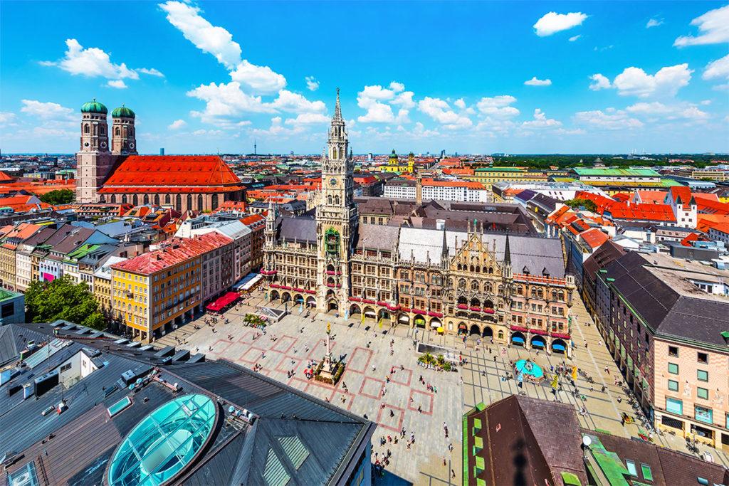 Marientplatz, el centro neurálgico de la capital bávara (iStock)